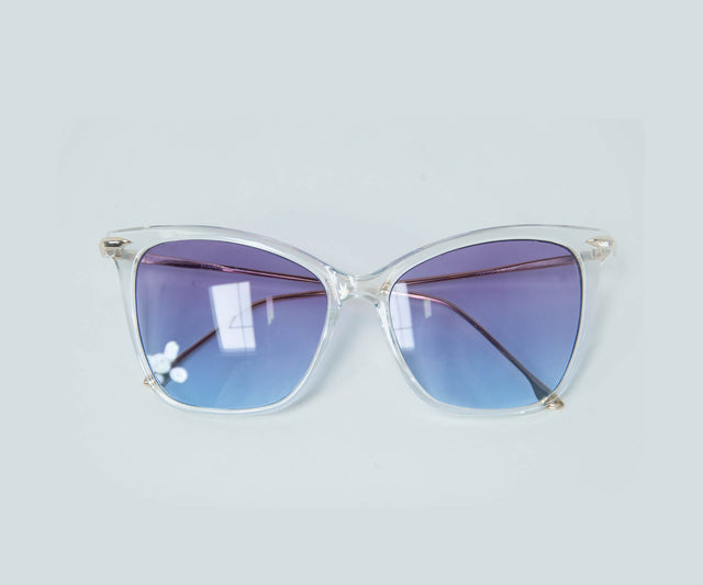 Clear Classic Frame Sunglasses