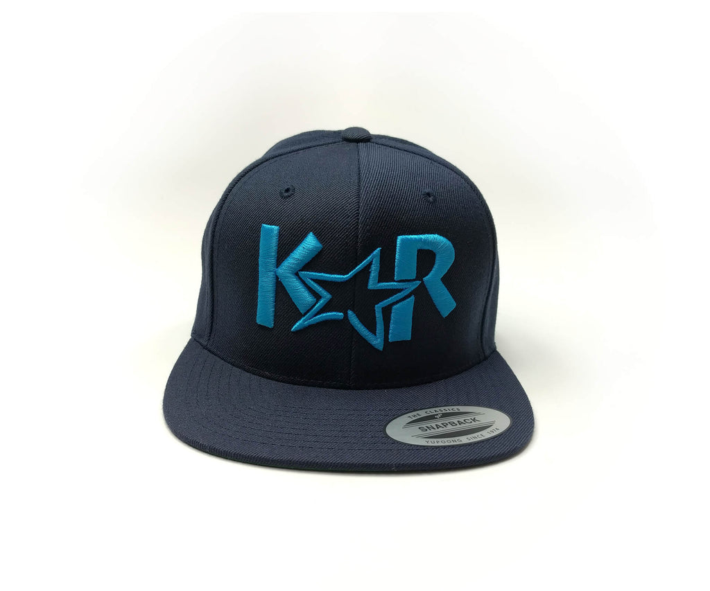 KAR Snap Back Navy Blue/ Blue Hat