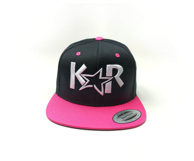 KAR Snap back Black/ Pink / White Hat