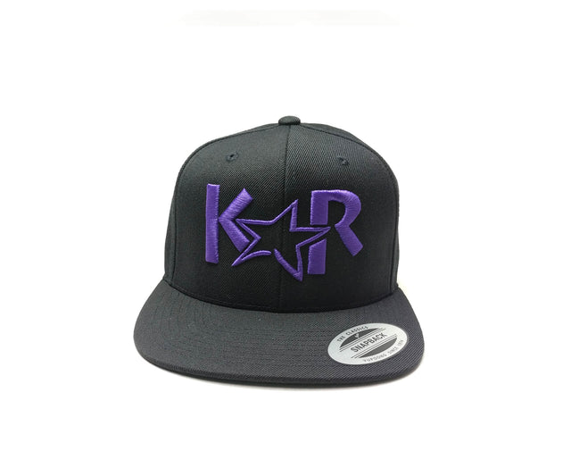 KAR Snap back Black/ Purple Hat