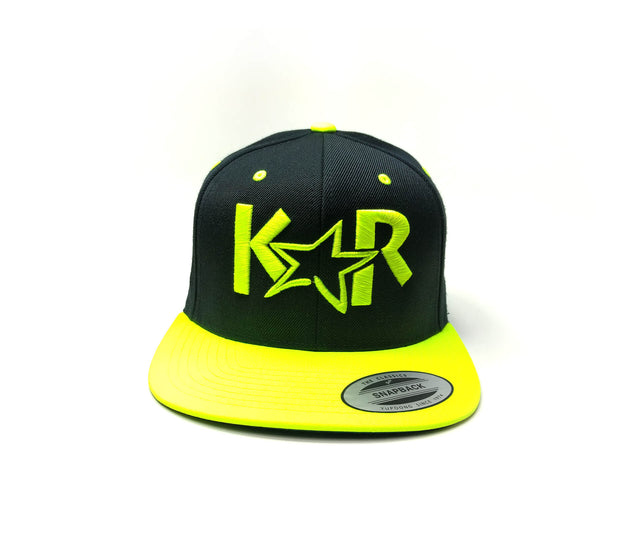 KAR Snap back Black/ Neon yellow Hat