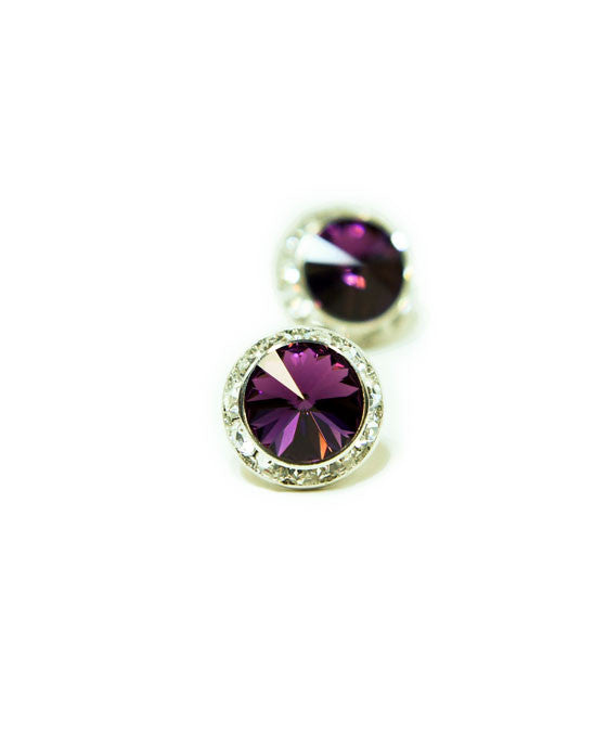 15mm Pierced Crystal Earrings