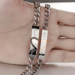 Stainless Steel Couples Matching Bracelet