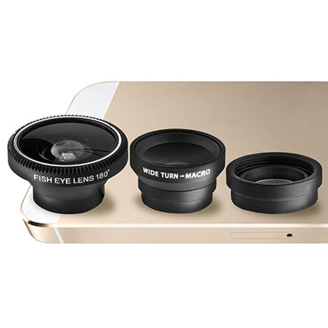3-Piece Camera Lens Attachment Set