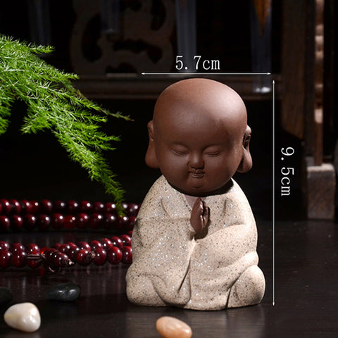 Ceramic Monk Figurine