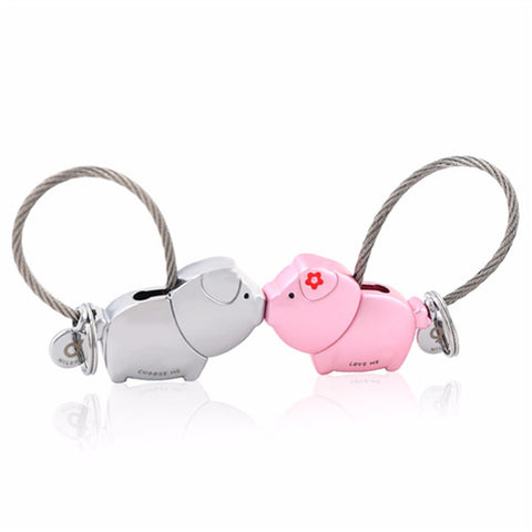 Pig Key Ring For Lovers