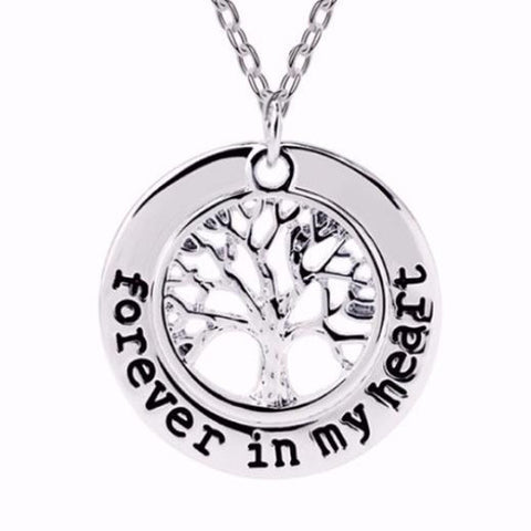 Forever in My Heart-Tree Pendant