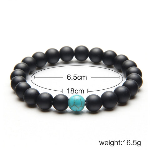 2 Pcs Natural Stone Couples Bracelets
