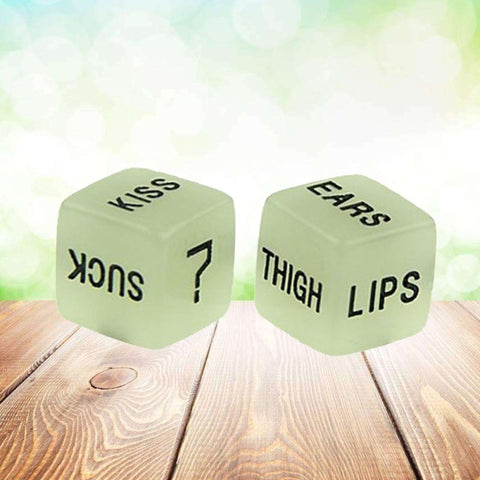2 Pcs Funny Glow-in-the-dark Dices