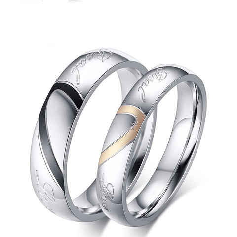 Couple Love Band Ring