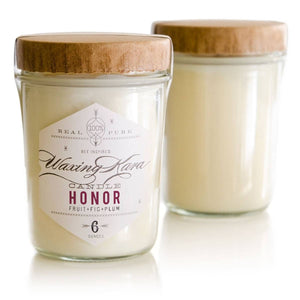 Honor Plum & Fig Candle, Waxing Kara