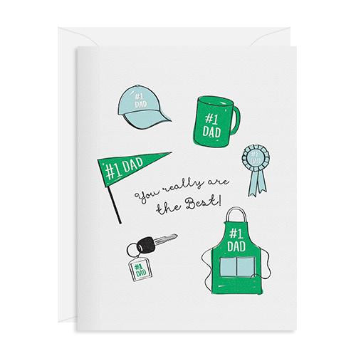 Best #1 Dad Card, Inclosed Letterpress Co.