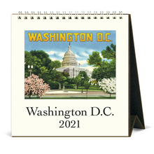 Load image into Gallery viewer, 2021 Washington DC Desk Calendar, Cavallini & Co.