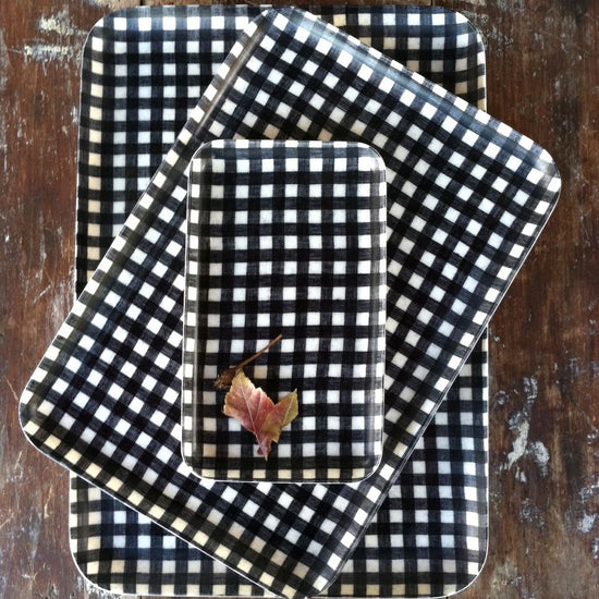 Navy Check Tray