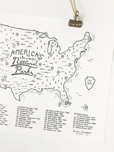 National Parks Checklist Map