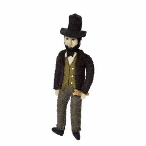 Abraham Lincoln Handmade Felt Ornament
