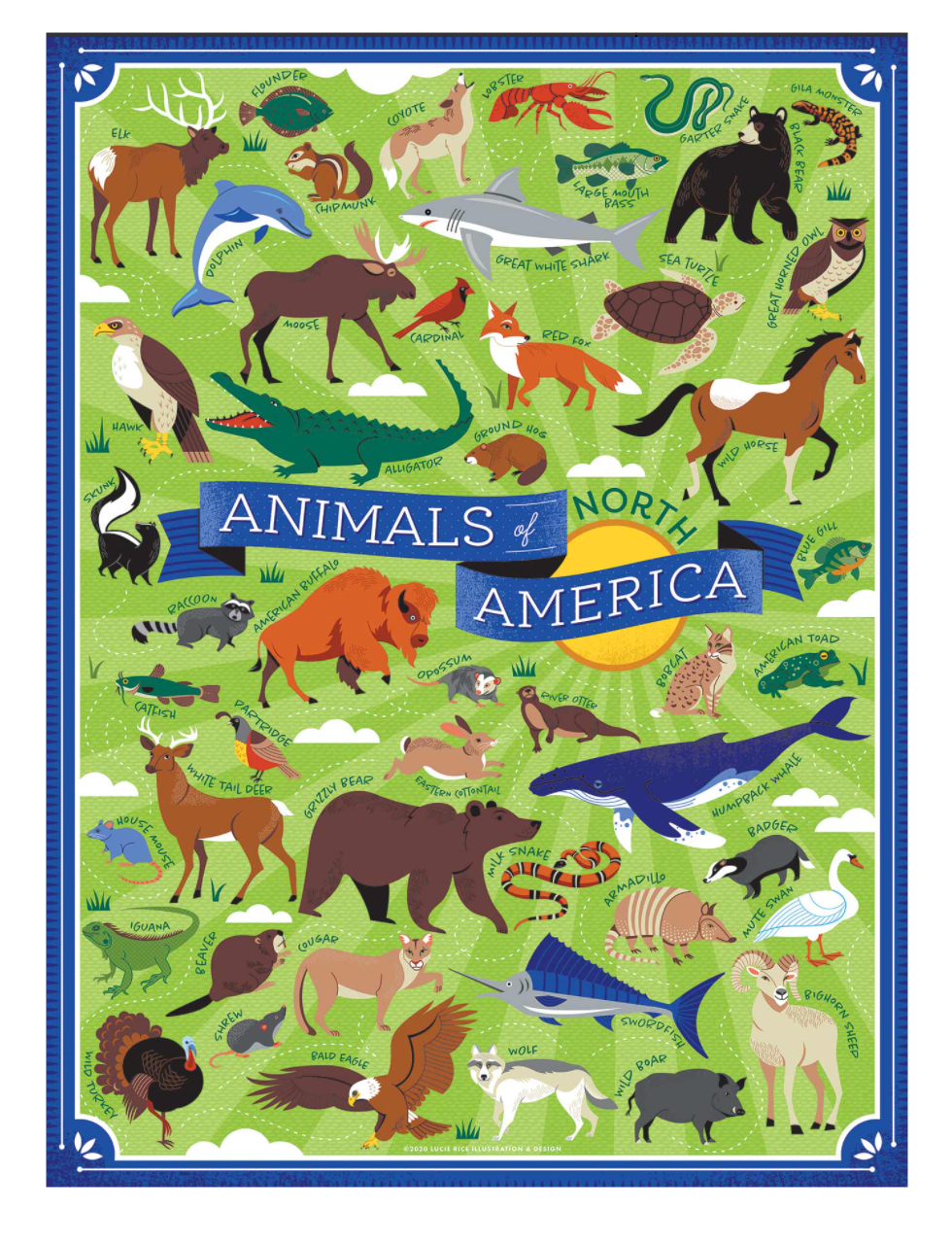 Animals of North America Puzzle, True South