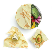 Load image into Gallery viewer, Honeycomb Assorted 3-Pack of Reusable Wraps, Bee's Wrap