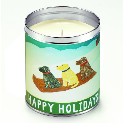 Happy Holidays Bayberry Scented Candle, Aunt Sadie's