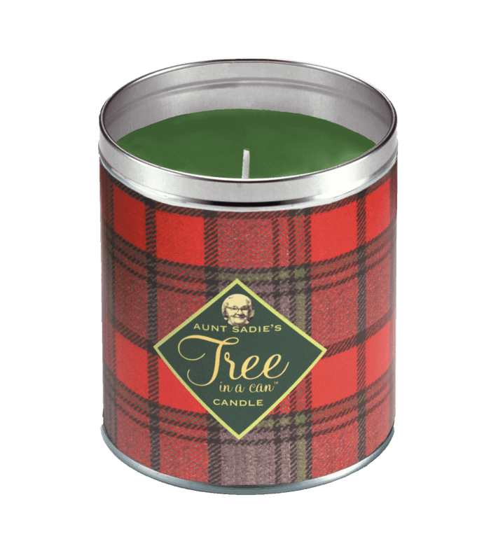Holiday Plaid Tree in a Can Candle, Aunt Sadie's