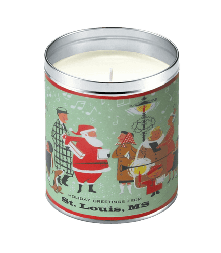 Santa's Shoppers Bayberry Scented Candle , Aunt Sadie's
