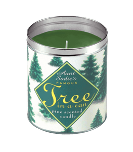 Snowy Tree in a Can Candle, Aunt Sadie's
