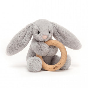 Bashful Bunny Wooden Ring Toy