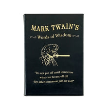 Load image into Gallery viewer, Mark Twain's Words of Wisdom - Black Leather