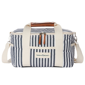 Navy Striped Cooler Bag