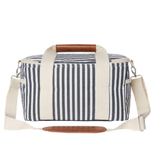 Load image into Gallery viewer, Navy Striped Cooler Bag