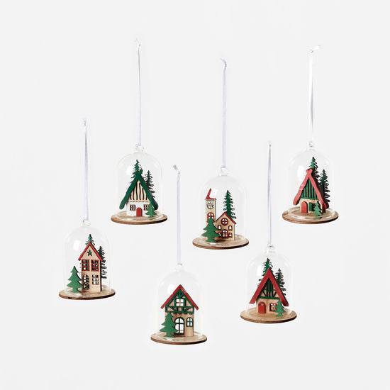 Bavarian Holiday Dome Ornaments