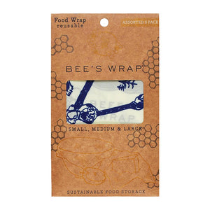 Bees & Bears Reusable Wraps, Assorted 3-Pack