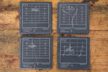 Load image into Gallery viewer, Greatest Virginia Tech Football Plays - Slate Coasters (Set of 4)