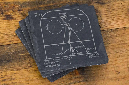 Greatest Capitals Plays - Slate Coasters (Set of 4)