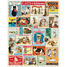 Load image into Gallery viewer, Vintage Cats Puzzle, Cavallini & Co.