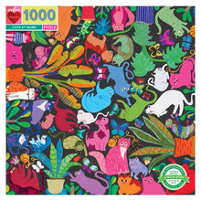 Load image into Gallery viewer, Cats at Work 1000 Puzzle, eeBoo