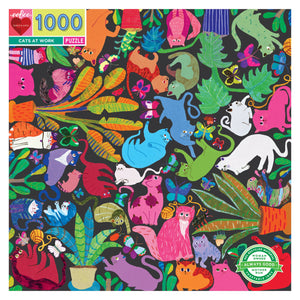 Cats at Work 1000 Puzzle, eeBoo
