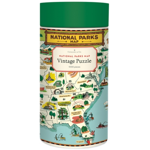 National Parks Map Puzzle, Cavallini & Co.
