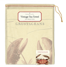 Load image into Gallery viewer, Crustaceans Tea Towel, Cavallini & Co.