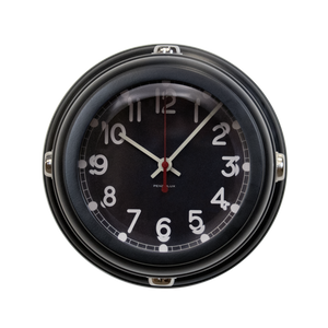 Deckhand Wall Clock, Black