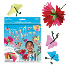 Load image into Gallery viewer, Crepe Paper Butterflies and Flowers Kit, eeBoo