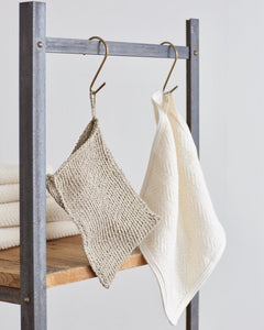 Linen Knit Wash Cloth, Fog Linen