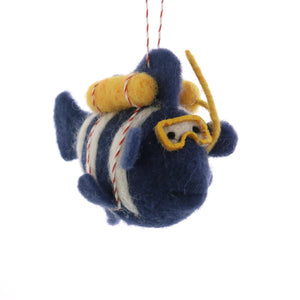 Felt Scuba Fish Ornament