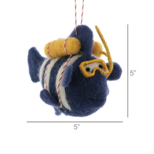 Load image into Gallery viewer, Felt Scuba Fish Ornament