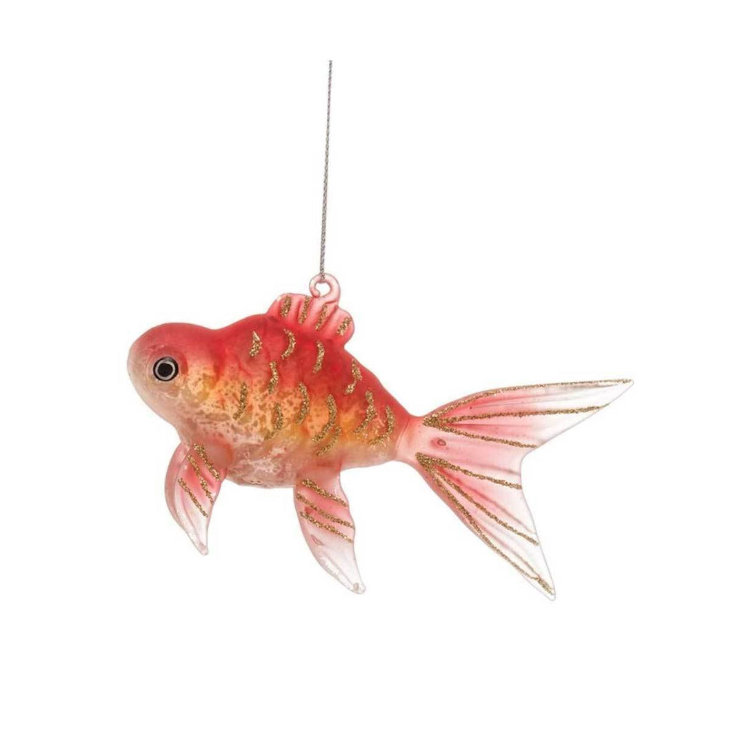 Glass Goldfish Ornament