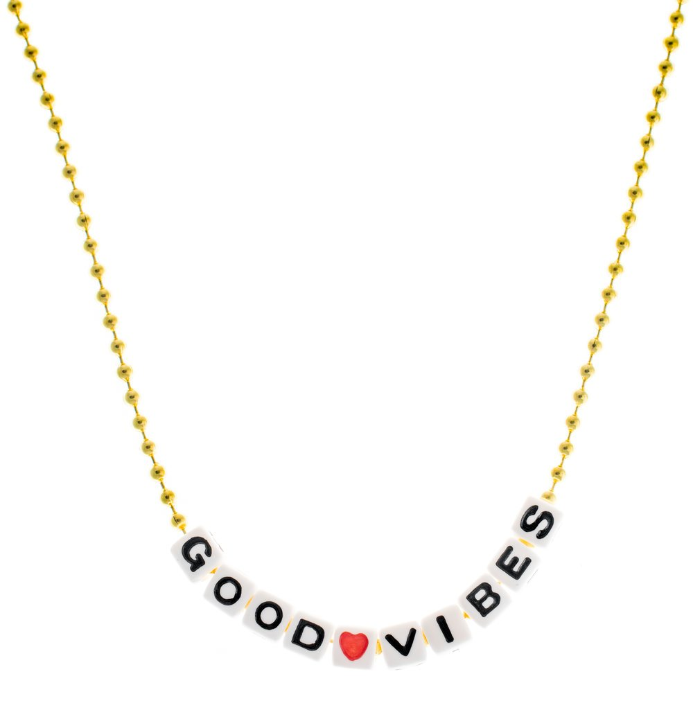 Good Vibes Necklace, Gunner & Lux