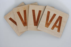Virginia Coasters, Set of 4