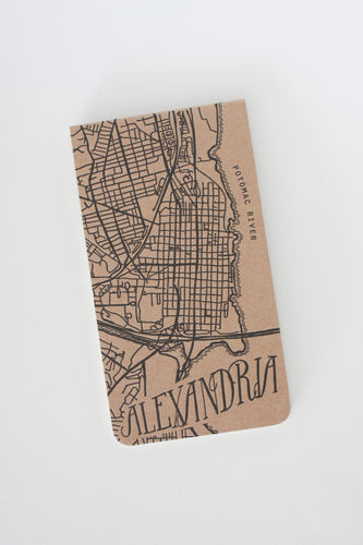 Alexandria City Map Notebook