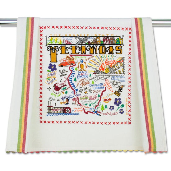 State of Illinois Dish Towel
