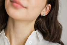 Load image into Gallery viewer, Faceted Porcelain Stud Earrings